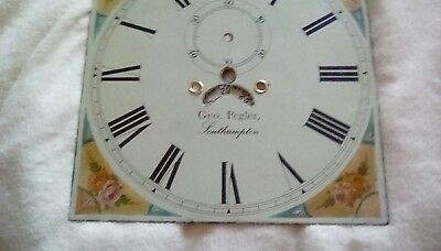 longcase grandfather clock face 20 inches high 14 inches high