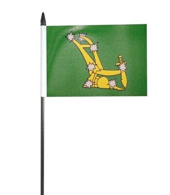"Starry Plough Green Ireland Small Hand Waving Flag 6"" x 4"""