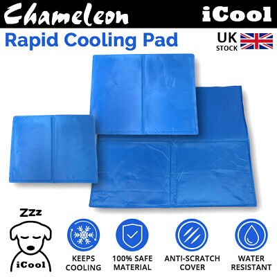 Pet Cooling Gel Mat Bed Dog Cat Summer Heat Relief Non-toxic Cushion Pad 3 sizes