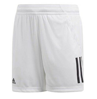 New Boys Junior Kids Adidas Sports Tennis Summer Shorts - White