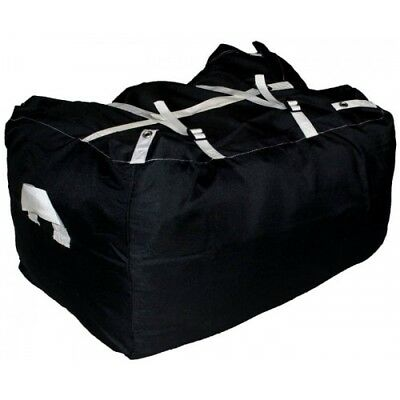 BLACK ULTRA STRONG Laundry Hamper Sack COMMERCIAL GRADE Linen Buckle and strap