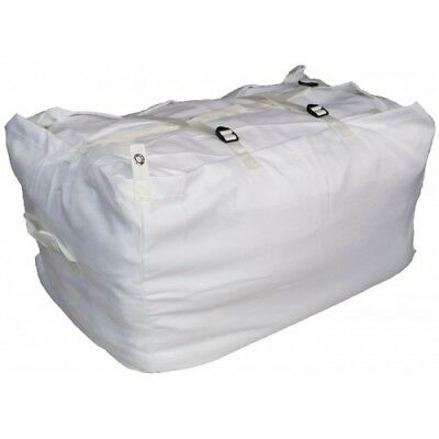WHITE ULTRA STRONG Laundry Hamper Sack COMMERCIAL GRADE Linen Buckle and strap
