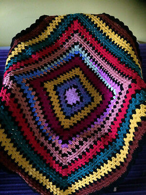 Reto Handmade Crochet  Baby Blanket - GIFT - Unisex Retro New baby shower