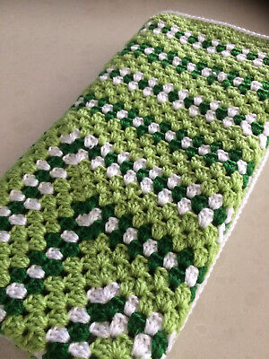 New Handmade Crochet  Baby Blanket unisex, pram, car or Home. Retro