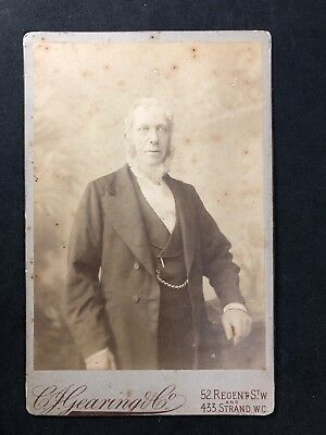 Victorian Photo Cabinet Card: Gearing & Co: Old Gent Named WHITEHEAD