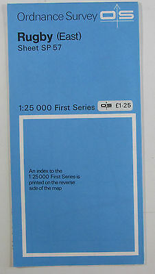 1972 old vintage OS Ordnance Survey 1:25000 First Series Map SP 57 Rugby (East)
