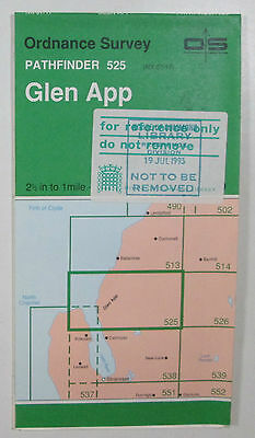 1993 old vintage OS Ordnance Survey 1:25000 Pathfinder map Glen App 525 NX 07/17