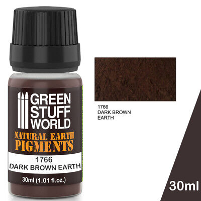 Pigmento DARK BROWN EARTH - Natural Marron Polvo Pintura Modelismo Miniaturas