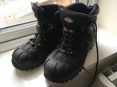 Dickies medway safety hiker steel toe cap boots size 9 43 waterproof thinsulate