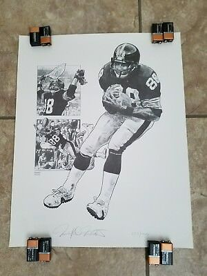 f722fcbfc Lynn Swann Pittsburgh Steeler Football Vintage POSTER Lithograph Limited  Edition