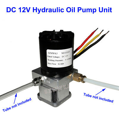 Single Acting Electric Hydraulic Oil Pump Unit for Excavator Dumper Trailer DIY
