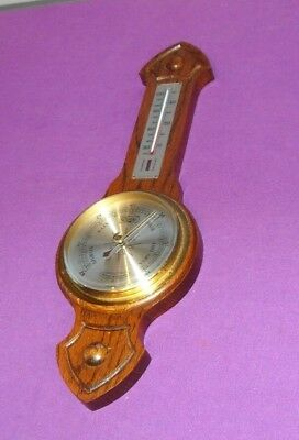 VINTAGE 1940/50s COMITTI OF LONDON COMPENSATED WALL BAROMETER THERMOMETER