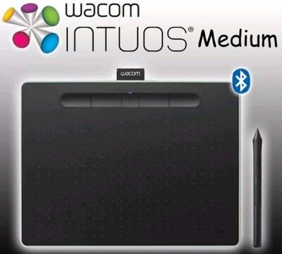 Wacom Intuos Creative Pen Tablet Bluetooth Wireless Medium Pistachio CTL-6100WL