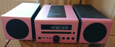 Yamaha CRX-140 Micro CD/DAB Receiver with Speakers Pink