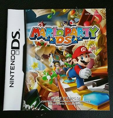 JUSTE NOTICE du Jeu Nintendo DS MARIO PARTY DS  pal FRA