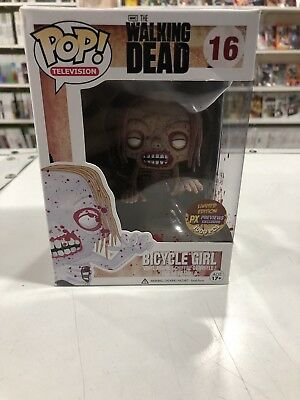 Funko Pop The Walking Dead Bicycle Girl Px1000 Bloody Exclusive