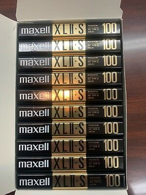 Lot of 10 ~ New Sealed Maxell XLII-S 100 High Bias Audio Cassette Tapes 100 Mins