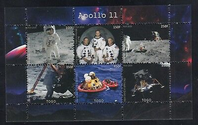 10x Space Apollo 11 Armstrong perf - Private Local issue Wholesale / not MNH