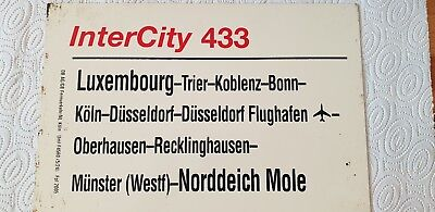 Zuglaufschild InterCity 433