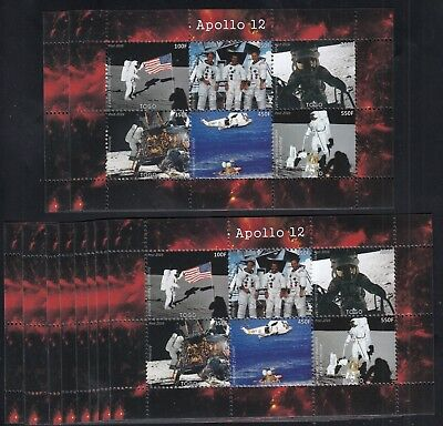 10x Space Apollo 12 perf - Private Local issue Wholesale not MNH