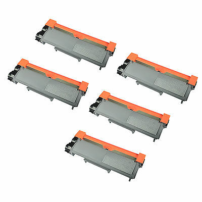 5PK TN-660 TN660 Black Toner Cartridge For Brother DCP-L2520DW HL-L2300D