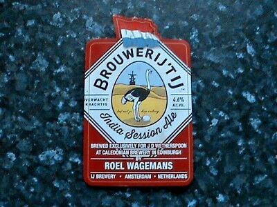 Caledonian Brouwerij'Tij India Session Ale beer pump clip sign Ostrich theme