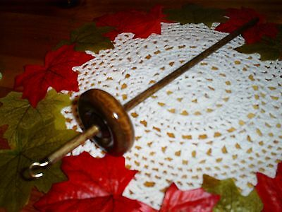 Hand Crafted Top Whorl Drop Spindle 1.0 oz. Kit To Hand Spin Fiber Wool Included