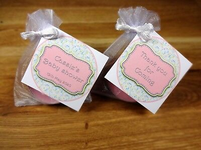 Baby shower scented candles favours tealights circle pink girl x 10 pack