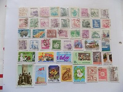 Korean Coll'n of stamps off paper all comm.-1-46-some OLDER
