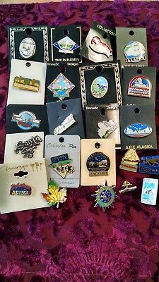 22 souvenir pins- United States - Great Collection