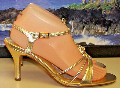 TOUCH UPS, (GOLD METALLIC) ANNEKA DRESS SANDALS!-> Women's Size: 9W {NWB}