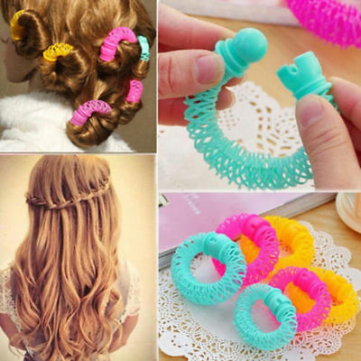 8Pcs Hairdress Magic Bendy Hair Styling Roller Curler Spiral Curls DIY Tool Fad