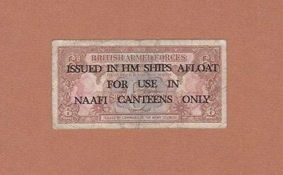 #British Armed Forces NAAFI CANTEENS ONLY 6 Pence 1946 M-9B VG Arms