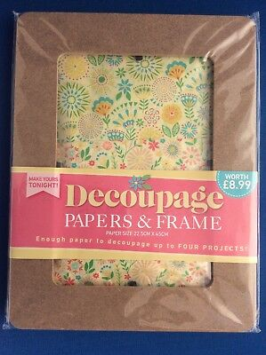 Decoupage Papers & Frame Kit.  Make Your Own Photo Picture Frame