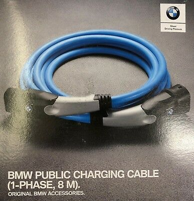 Genuine BMW i3/i8/225xe/330e/530e/X5 40ex Public Charging Cable 8M 61902455071