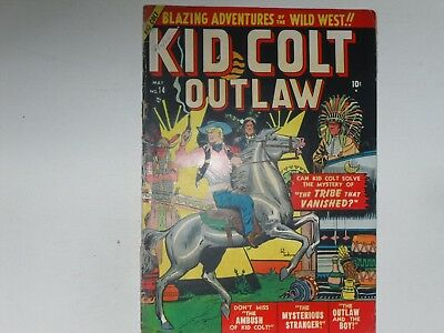 Kid Colt Outlaw  #14  May 1951    Atlas  Western  Comic    Very Good