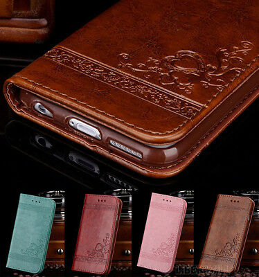 Case for iPhone 6s 7 8 Plus 5s SE XR XS Flip Wallet Leather Cover Magntic Luxury