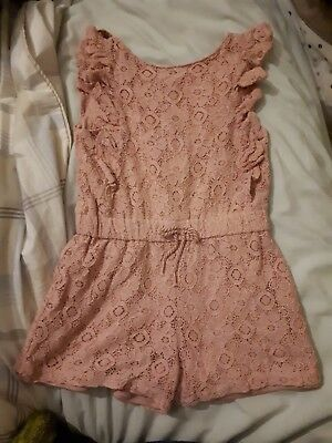 Girls Pink Playsuit - Size 6/7 Years