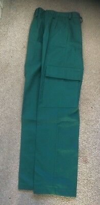 Dimensions Corporate Paramedic Green NHS Trousers, New - Size 26W Regular Leg