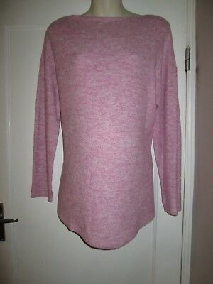 Lovely Size 14 Pink Fine Knit Maternity Jumper See Pics!!