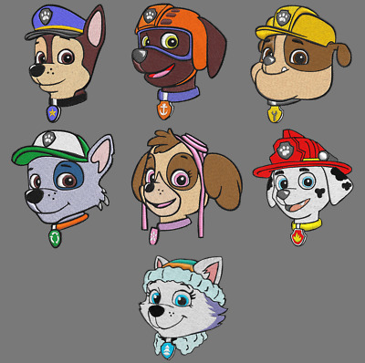 Emdroidery designs Paw Patrol heads Link to download pes 4x4