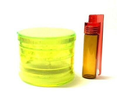 60mm GRINDER 5 Part Leaf Weeds Herb Crusher and Plastic Stash Pill Box Container
