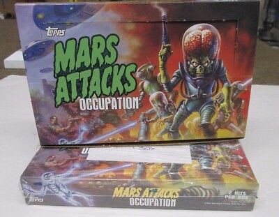 Mars Attacks Occupation Topps  SEALED BOX **GOLD VERSION BOX less than 50 made
