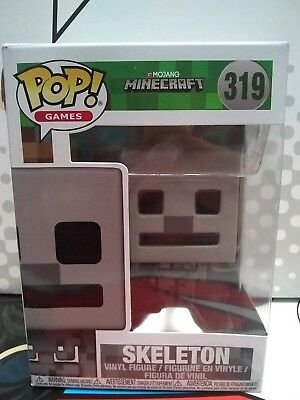 MINECRAFT FUNKO POP GAMES Skeleton 319 Vinyl Figure 26386