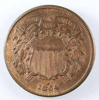 1864 Two Cent Piece 2C - Large Motto