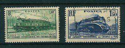 France 1937 International Railroad Congress set of stamps. Used.