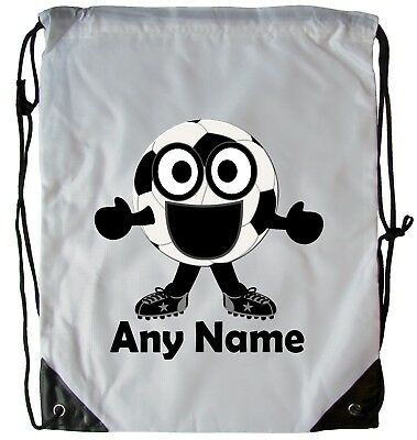 Personalised Football Boy Drawstring Gym Bag School Pe Swimming Dance Football