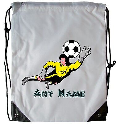 Personalised Goalkeeper Drawstring Gym Bag School Pe Swimming Dance Football Bag