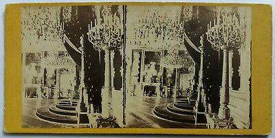 Photo Stereo Stereoview Chateau Tuileries Salle Trone Napoleon Iii Paris France