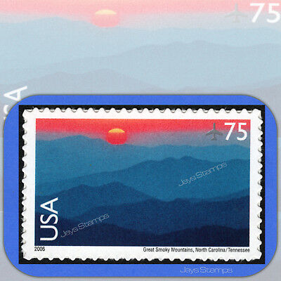 2006 GREAT SMOKY MOUNTAINS Scenic American Landscapes 75¢ Single AIR MAIL #C140